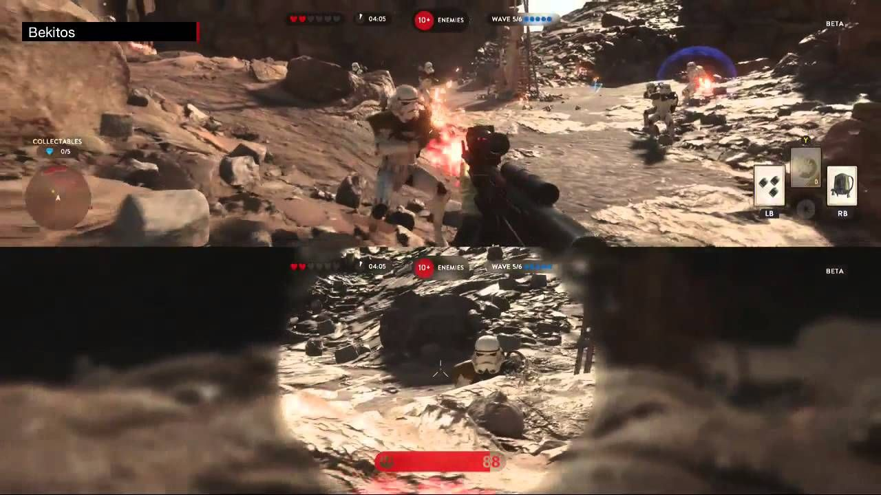 Star Wars Battlefront Beta Gameplay -  Survival Mode con Colomeitor (60fps)
