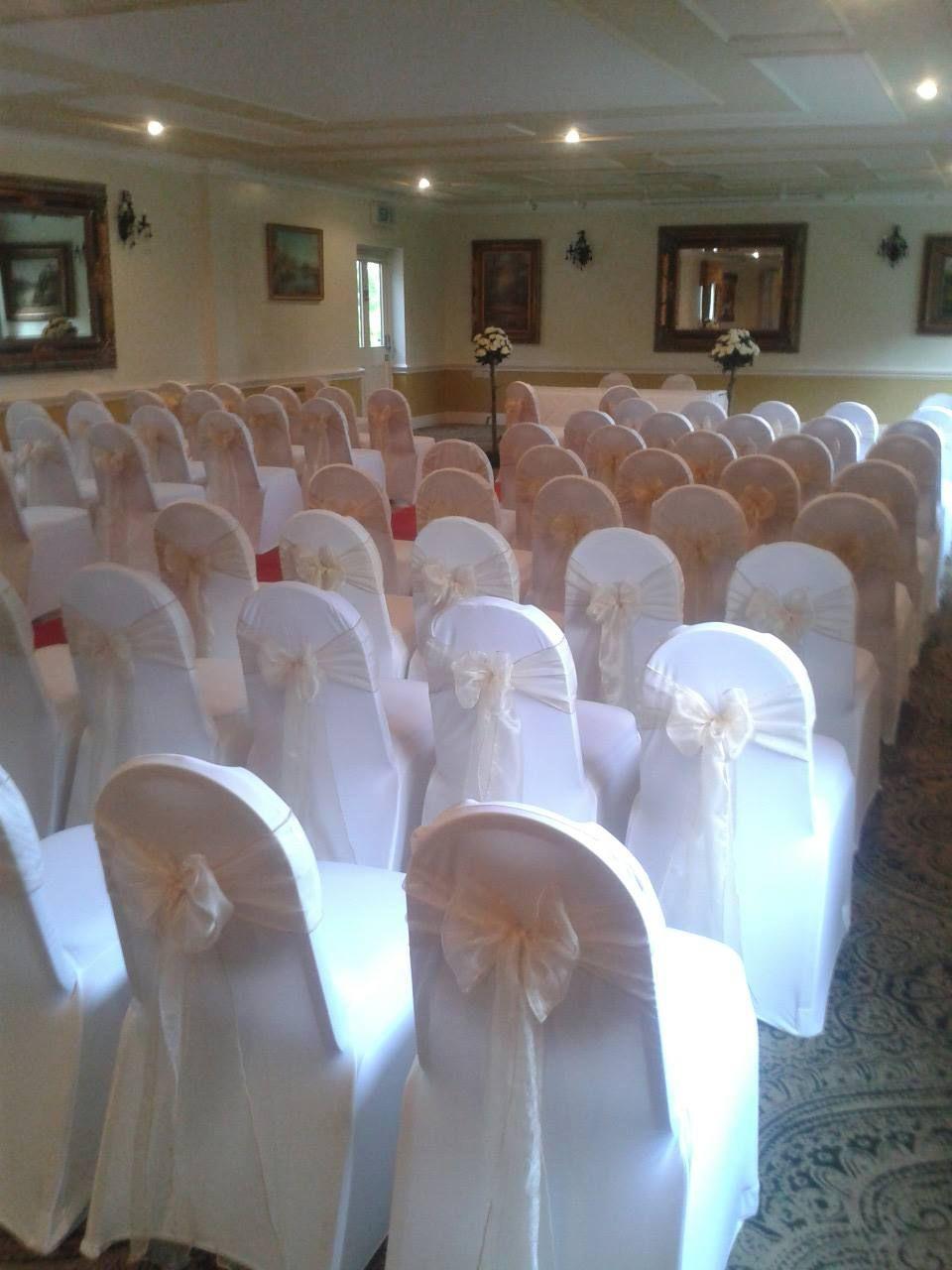 Wedding post box decorations  CHAMPAGNE ORGANZA  Debut dresses  Pinterest  Wedding venue