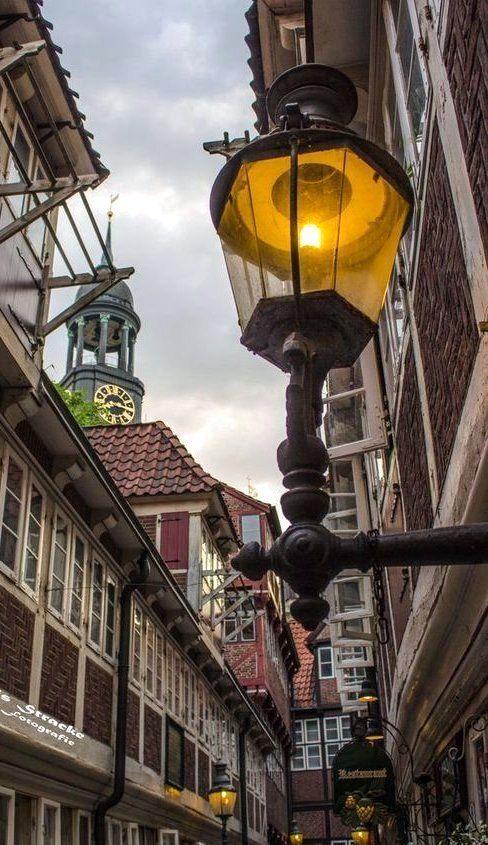 Krameramtsstuben The Oldest Street in Hamburg , Germany