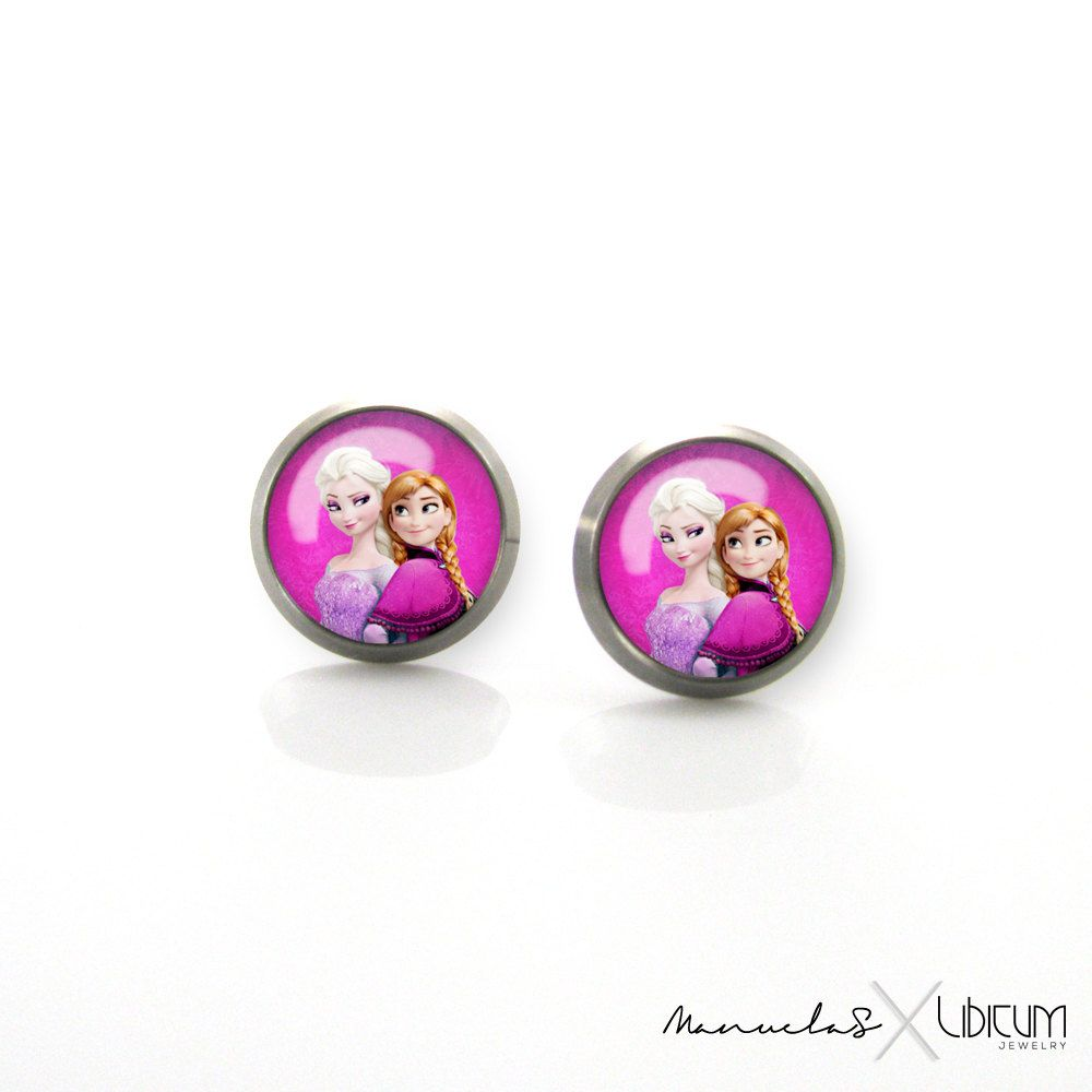 ab06cdb20 Disney Frozen Elsa Anna Titanium Post Earrings | Hypoallergenic Sensitive  Stud | Baby Girls earrings | Cute Children Earrings #6 by ManuelaS on Etsy