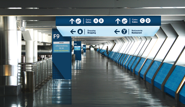 Wayfinding System Fot The Portuguese Airport Tiberfe