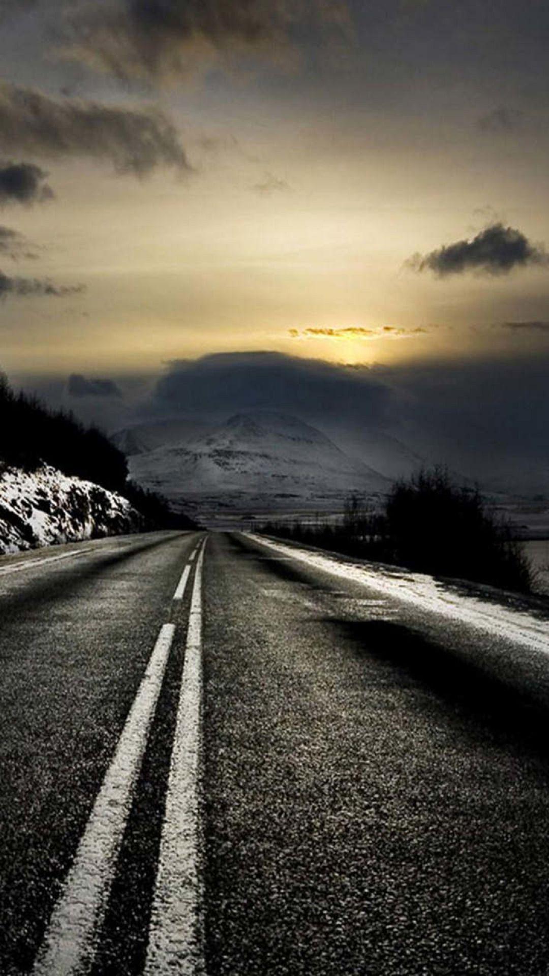Mountain Road Sunrise iPhone 6 Plus HD Wallpaper / iPod