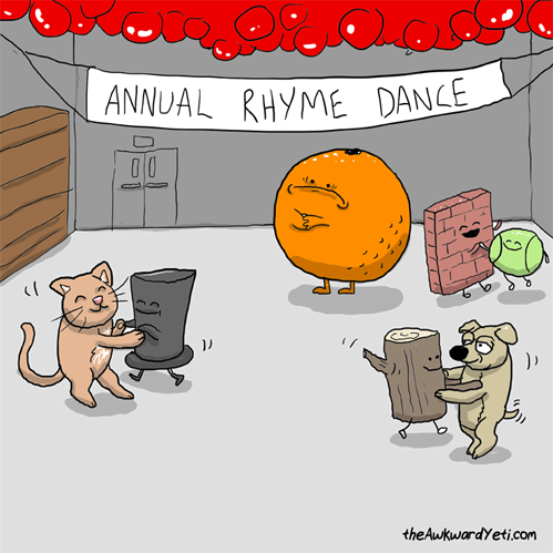 Annual Rhyme Dance. Poor Orange!!!!