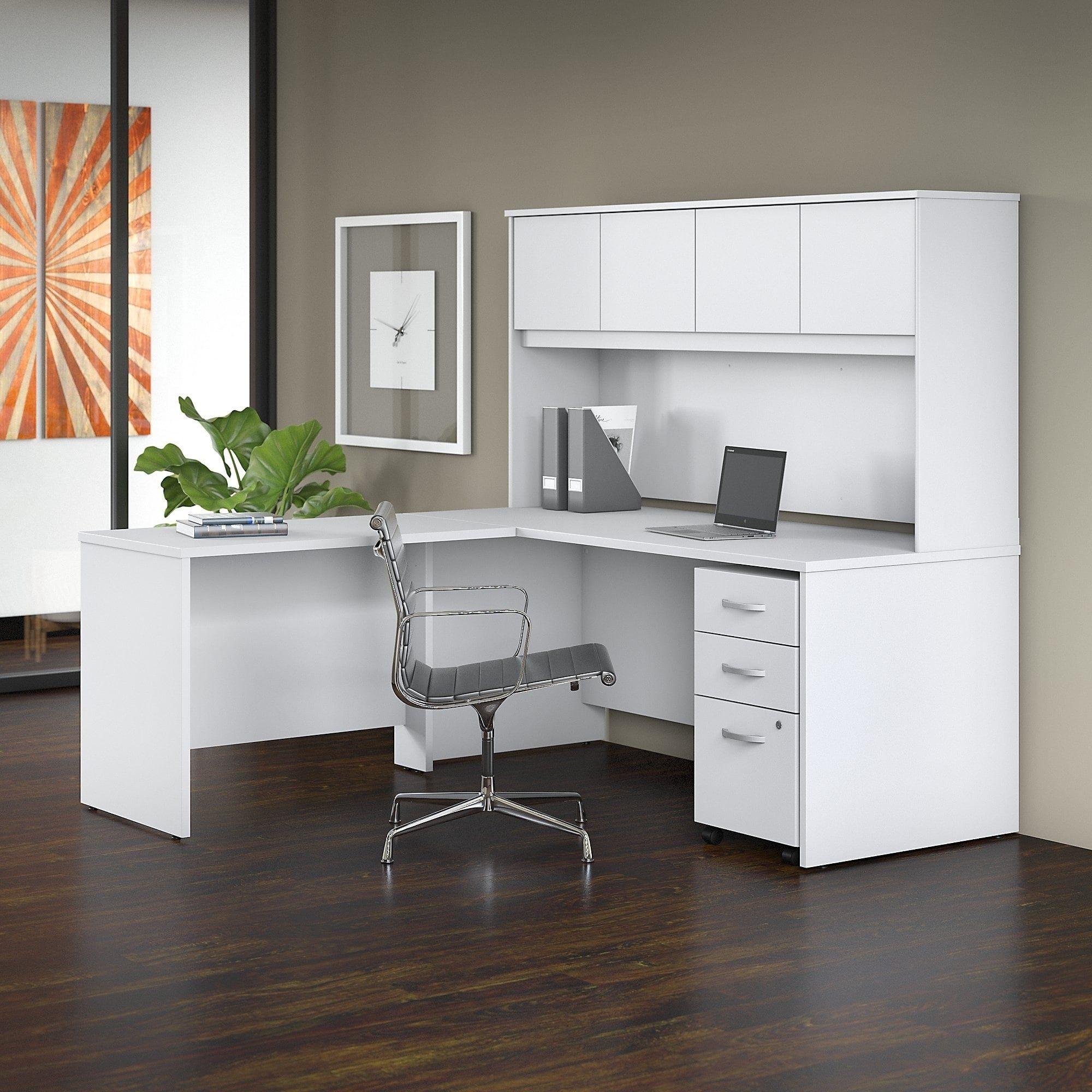 Bush Studio C 72w X 30d L Shaped Desk 4 Piece Office Suite In