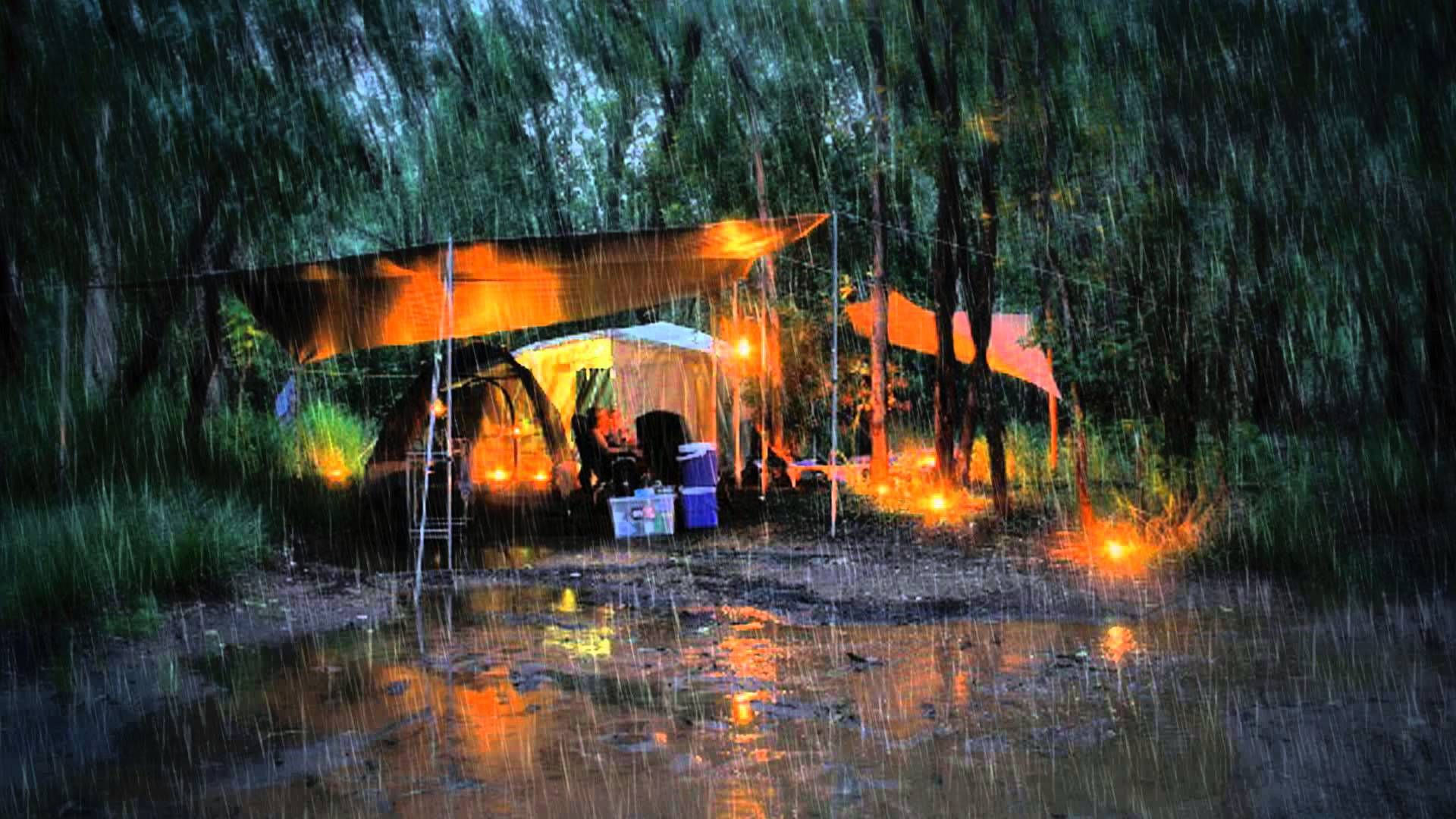 Rainy Camping Trip (MP3) Ambient Noise Rain - YouTube