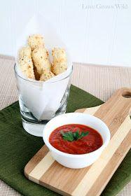 Love Grows Wild: Baked Mozzarella Sticks