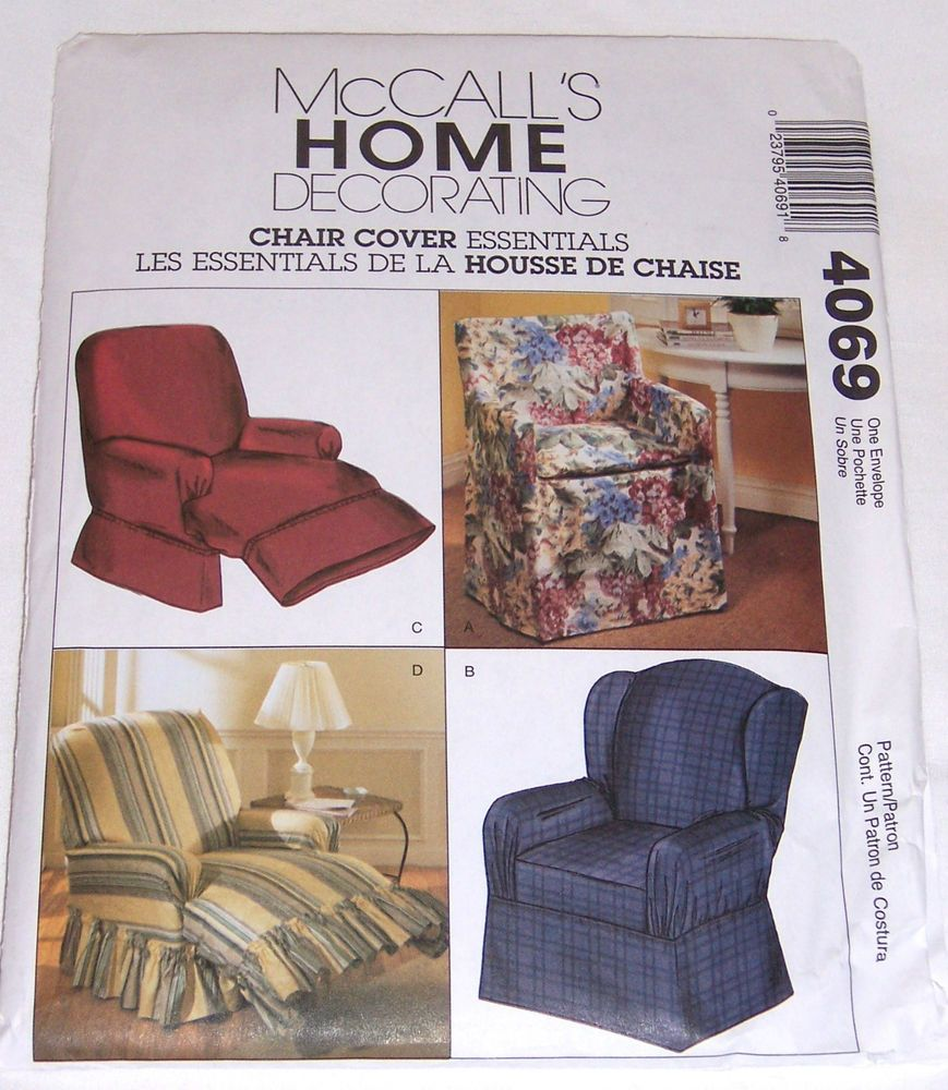 McCalls home decorating 4069 chair cover wingback