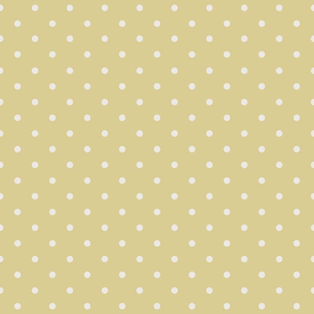 papel pintado lunares vintage color amarillo - Papel Pintado Lunares