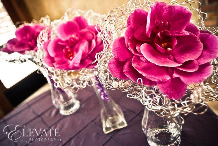 DIY jewelry wire floral arrangement
