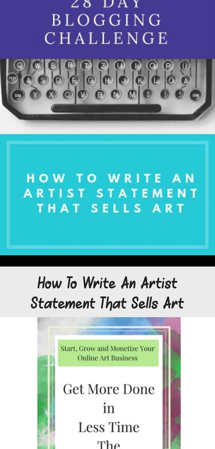 How To Write An Artist Statement That Sells Art ART in