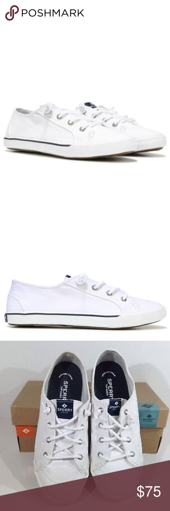 NWT Sperry Lounge LTT White Sneakers