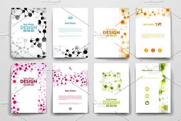 Molecular templates | Vector file, Brochures and Template