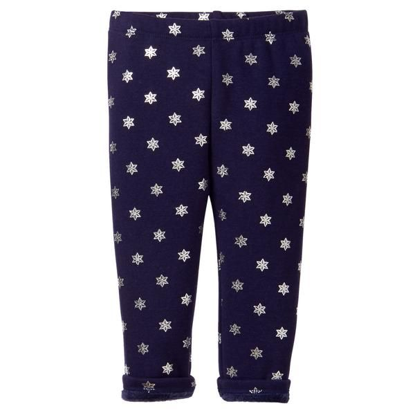 Toddler Girl Snowflake Print Warm Fuzzy Leggings By Gymboree