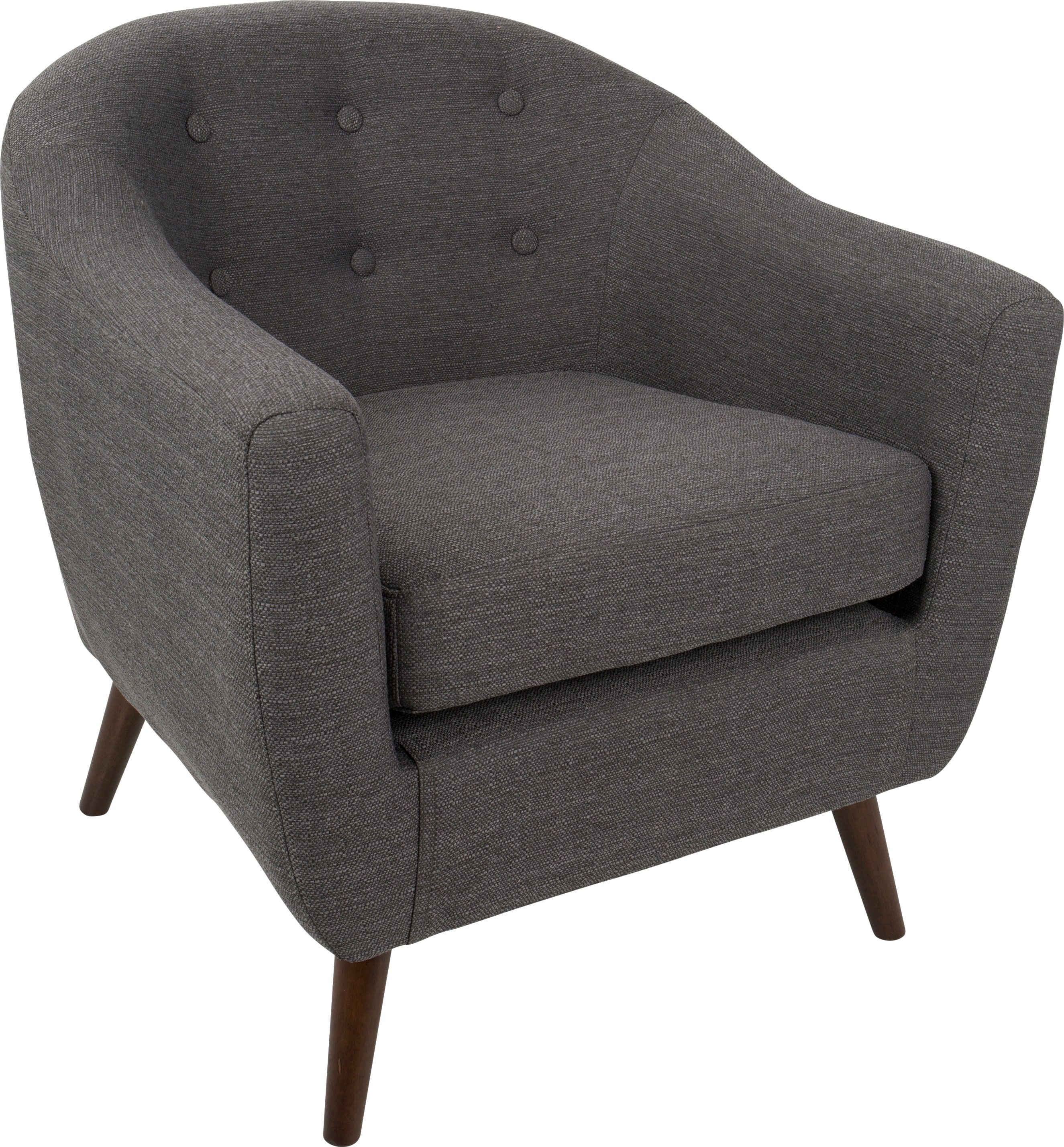 Rozelle Gray Accent Chair Upholstered Accent Chairs Grey Accent