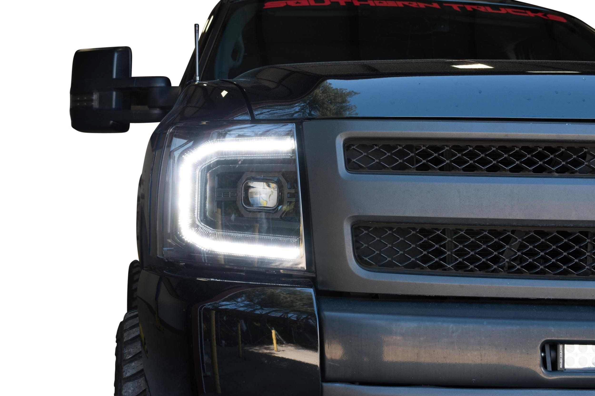 2007 2013 Chevrolet Silverado Xb Led Projector Headlights Complete Led Housings From The Retrofit Sou Led Headlights Chevrolet Silverado Silverado Headlights