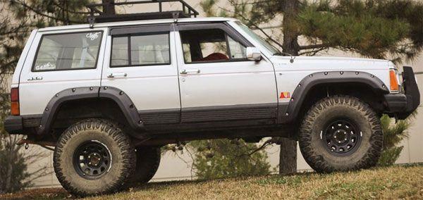 All Terrain Fender Flare Kit 4 Door 84 01 Jeep Cherokee Xj