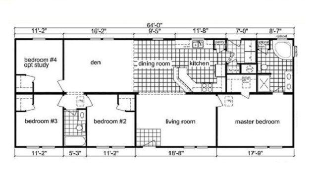 The Fontana floor plan, 4 bedroom modular home-energy efficient ...