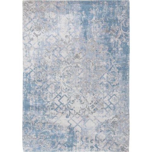 Fading World Babylon Cotton Blue Ivory Rug Louis De Poortere Rug Size Rectangle 140 X 200cm With Images Blue Rug Ivory Rug Blue Grey Rug