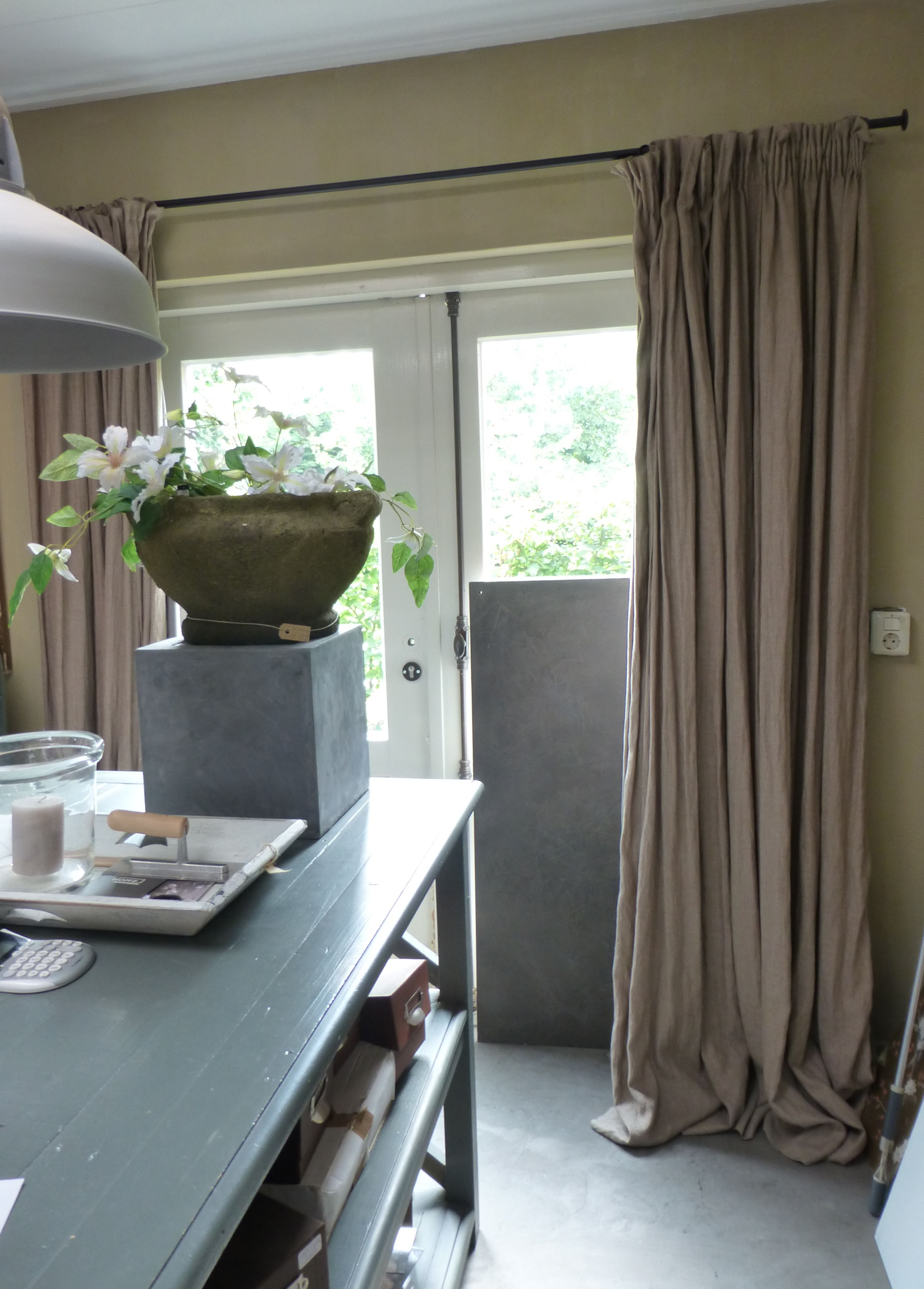 Prachtige gordijnen de potstal valburg nice gj keuken for Overgordijnen woonkamer