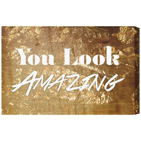 Add the final touch to your teen's chill-out zone or dressing room with this printed-to-order canvas art. Showcasing a golden typographic design, it's sure t...