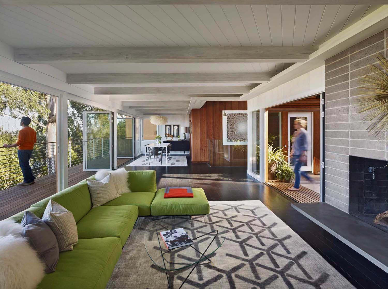 Stunning mid century modern home renovation in Berkeley Hills   Mid century modern house, House ...