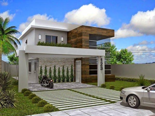 Fachadas de casas modernas con numeros entrada - Casas con chimeneas modernas ...