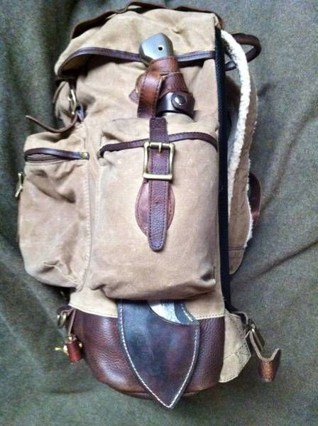 L L Bean Waxed Cotton Continental Rucksack Http Www