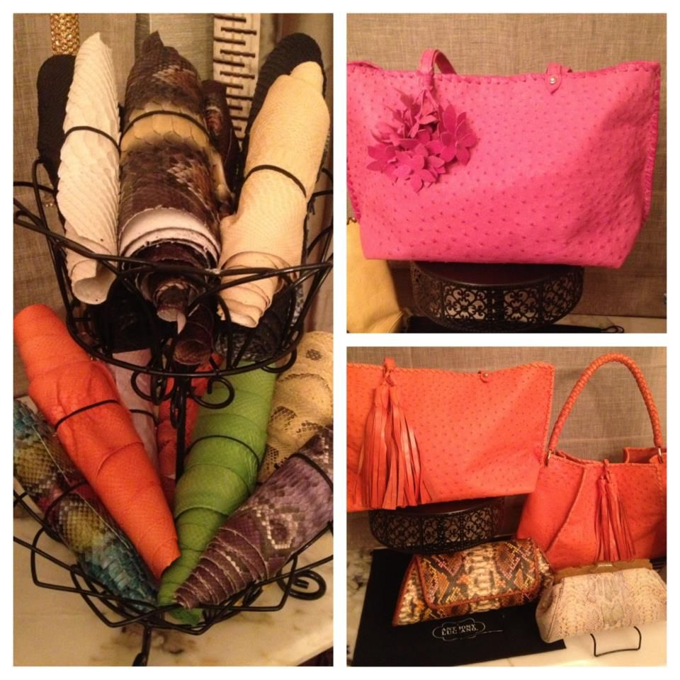 Python skins, ostrich bags & more :)