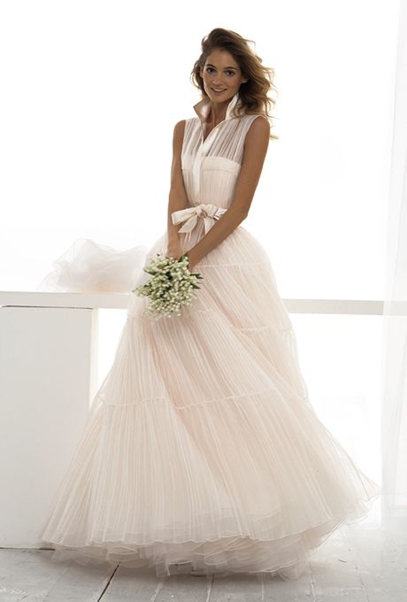 Angel sanchez fall 2015 strapless organza a line for Le spose di gio wedding dress