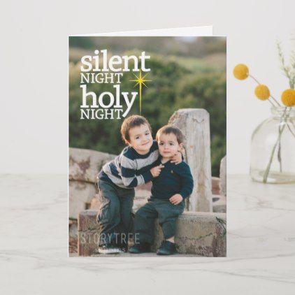 Night Holy Night Christian Christmas Card