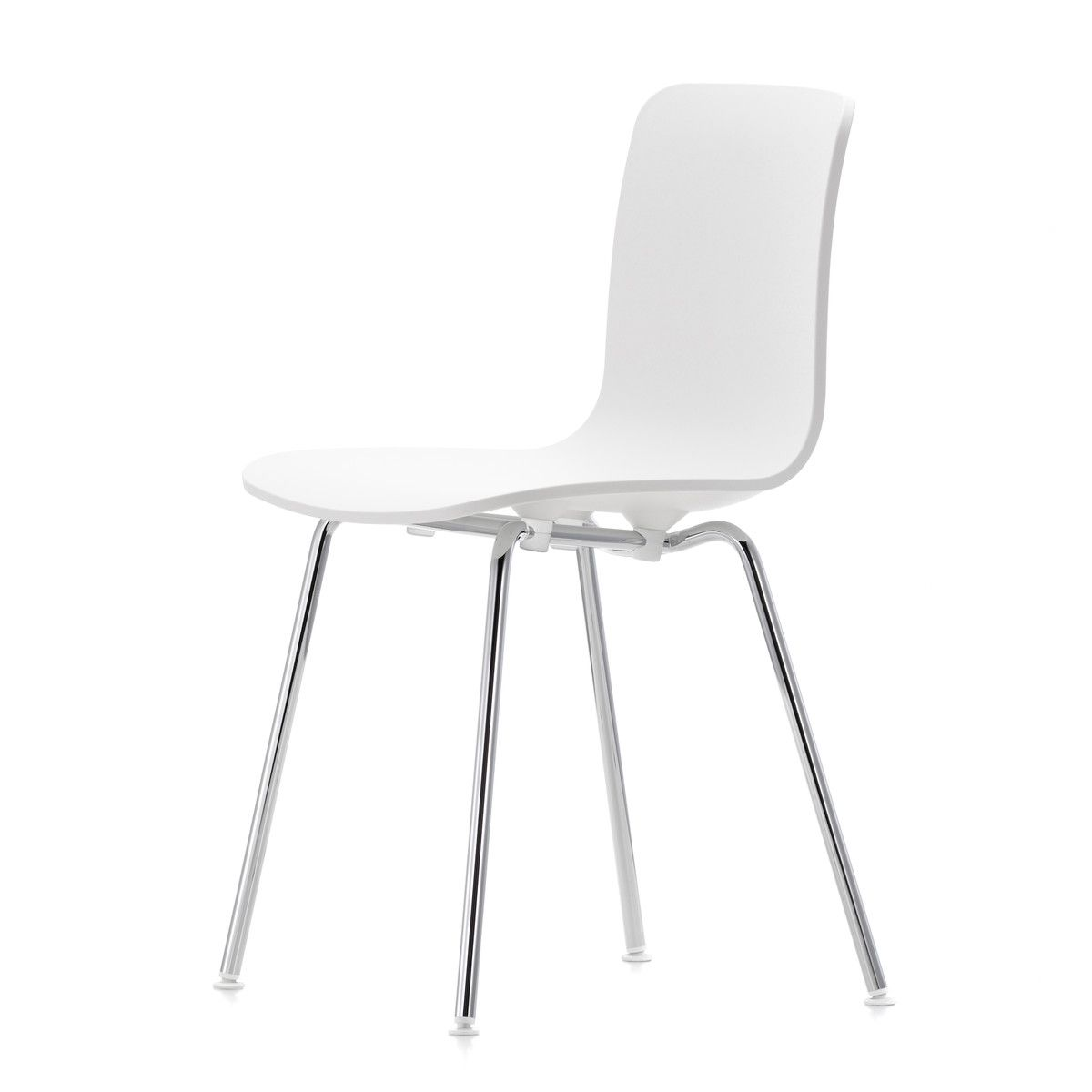 Vitra Hal Wood Stoel Vitra Hal Tube Chair White Chrome Chair Stühle