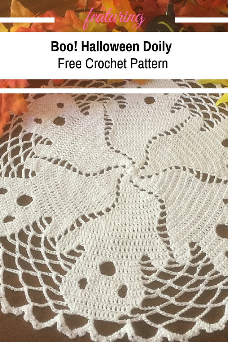 Funny And Clever Halloween Doily [Free Pattern | Crochet or Knit ...