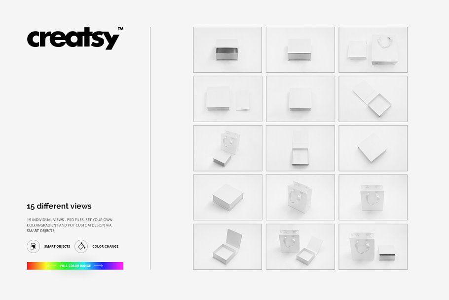 Download Jewelry Box Mockup Set Box Mockup Box Template Creative Market