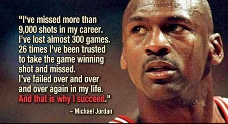 Success through Failure Motivational quotes for athletes