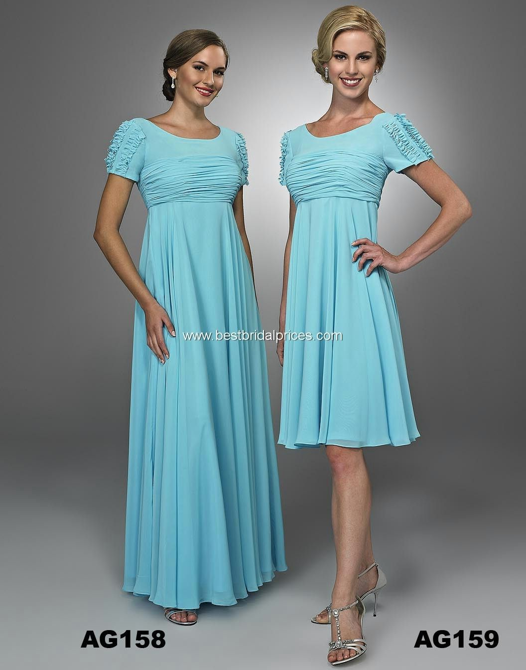 Landa Modest Bridesmaid Dresses - Style AG158 (long) [AG158 ...