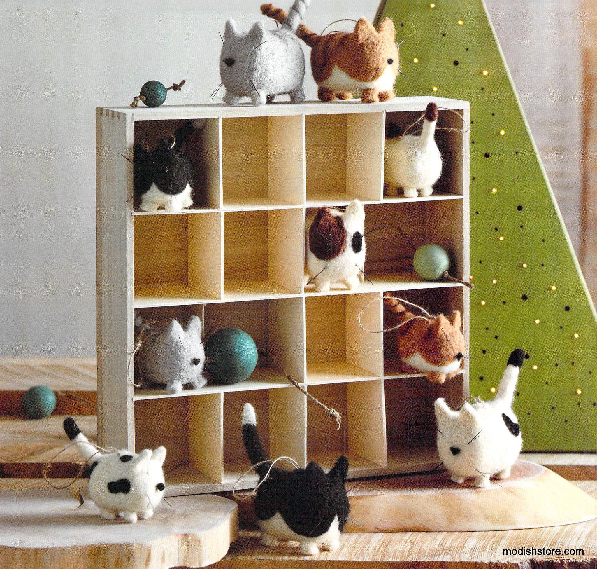 Roost Fat Cat Ornaments