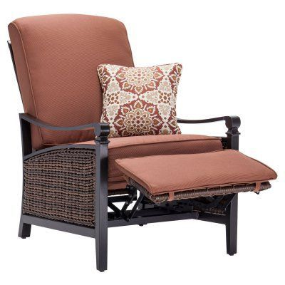 76a29065510 La-Z-Boy Outdoor Carson Luxury Patio Recliner Bordeaux - CARSON-RED ...