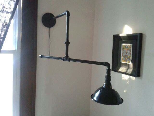 Industrial Lighting: Steampipe architects boom sconce.    Favorite  Like this item?    Add it to your favorites to revisit it later.  Industrial Lighting: Steampipe architects boom sconce.