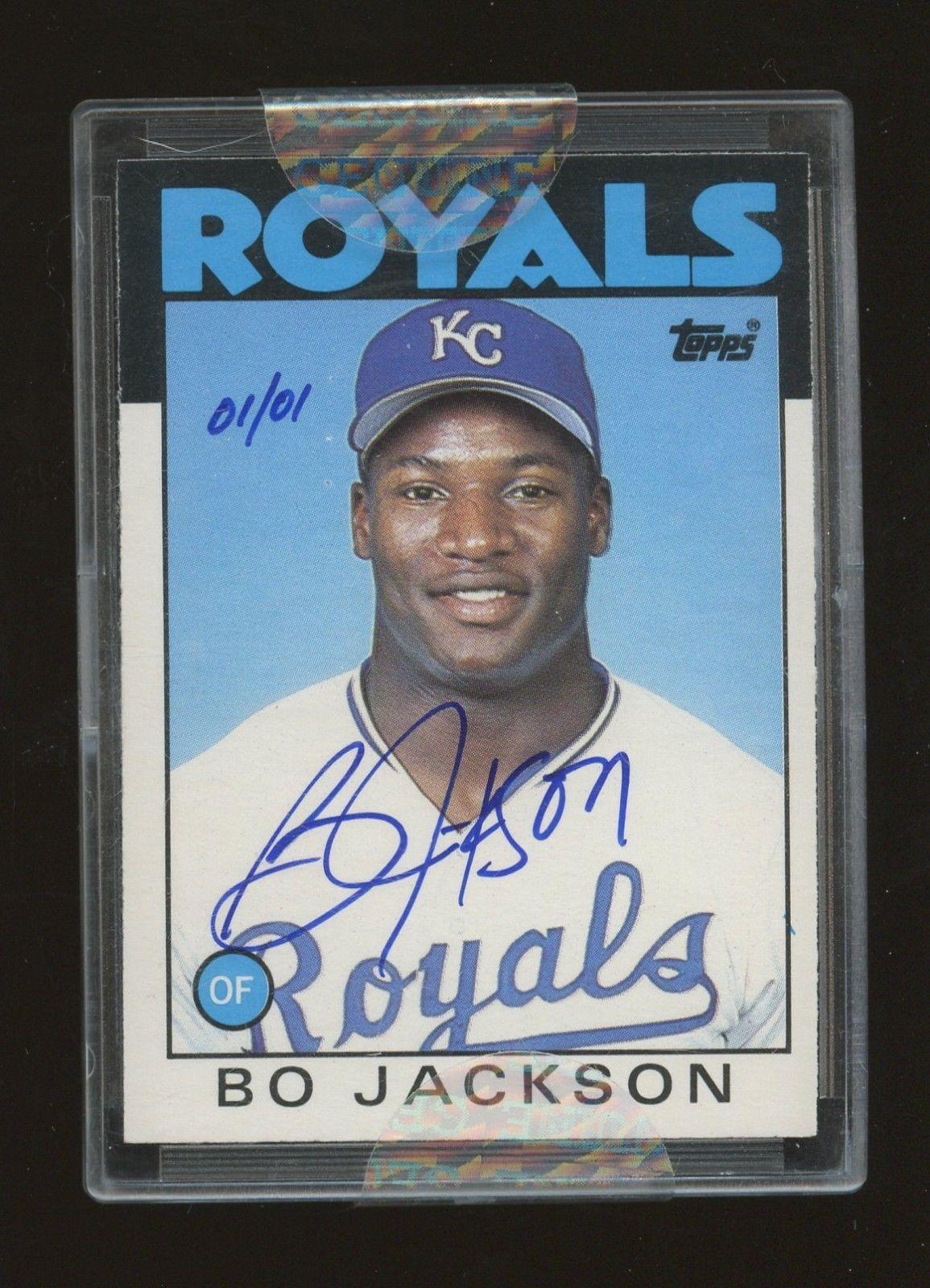 bo jackson baseball card topps