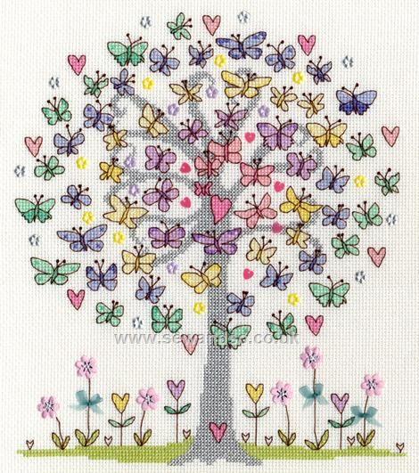 Buy Love Spring Cross Stitch Kit Online at www.sewandso.co.uk