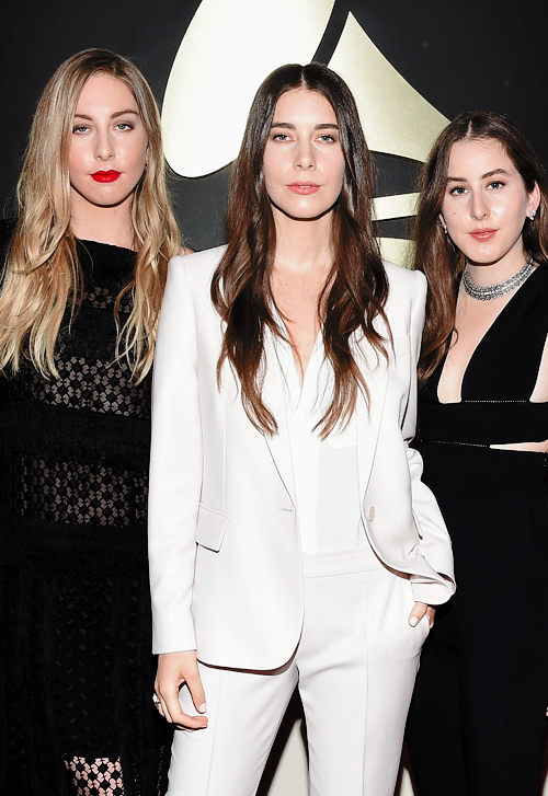 Haim at The Grammys, nominated for Best New Artist!!
