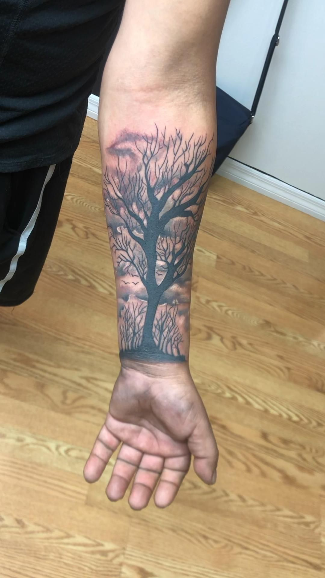 Tree tattoo design by Brian Stabile ft Myers Florida