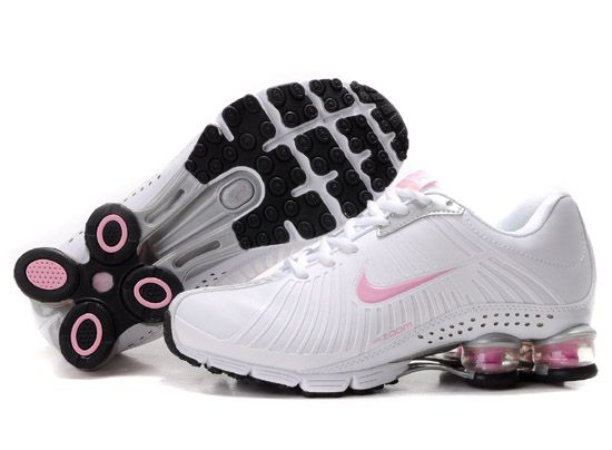 watch 82f08 0627d Nike Shox Experience+ Womens Shoes White Pink The nike shox experience+ womens  shoes white pink built with Breathable mesh upper with elastic cage for ...