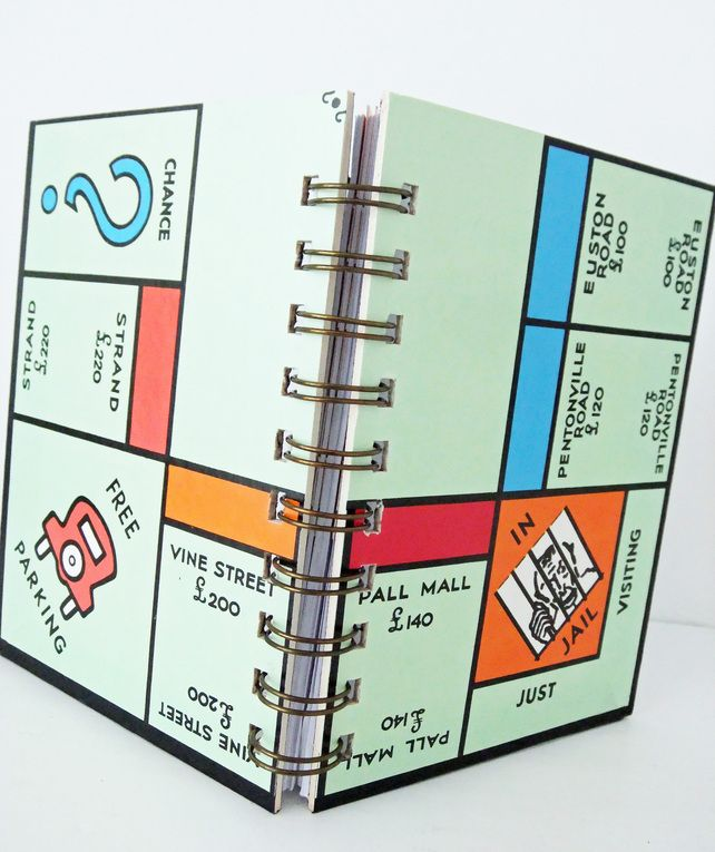 Small Monopoly Organiser Notebook