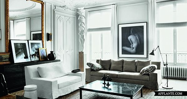 loveisspeed Private residence in Paris by interior designers - schlafzimmer ideen altbau