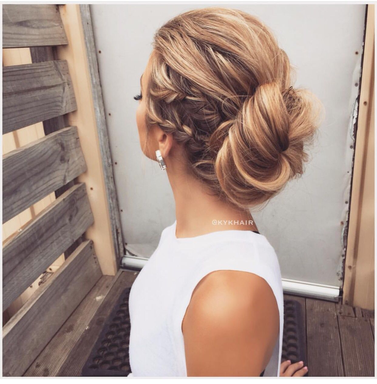 Simple Updo S And A Double Braid Hair Styles Long Hair Styles Braids For Long Hair