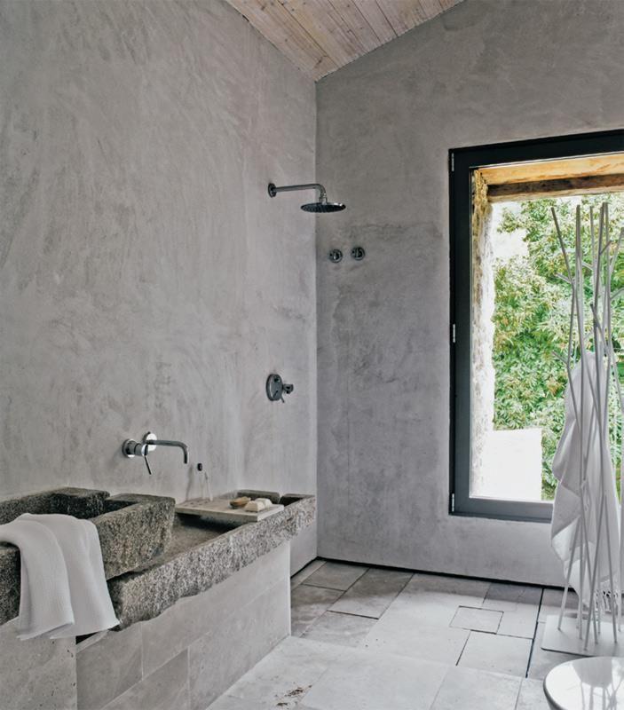 Banheiro de cimento