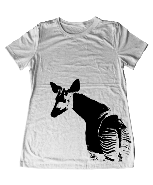 947b0fe21ded Okapi Women's Tee / Enriching the lives of wild animals in captivity. Okapi  T-