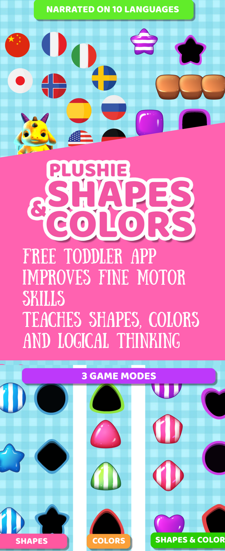 FREE Educational game for toddlers age 1 year old and up. Easily teach your  kids