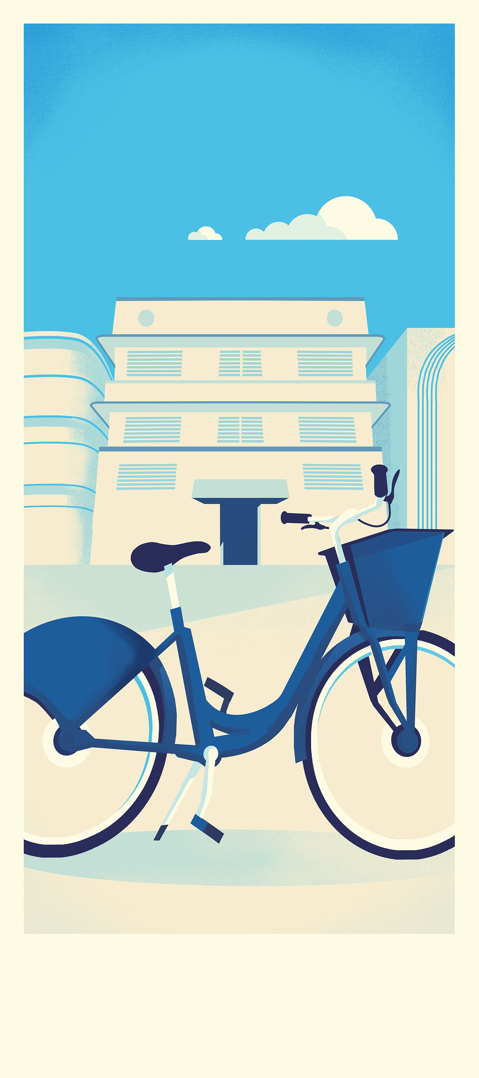 Citi Bike Miami >> Citi Bike Miami By Pietari Posti Pietari Posti Bike Illustration